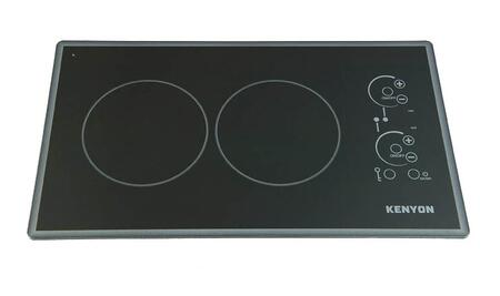 Kenyon B4179 Lite-Touch Q Cortez Electric Cooktop with 2 Burners, Smooth Black Glass, Digital Touch Control, On and Hot Burner Indicator Lights in Black