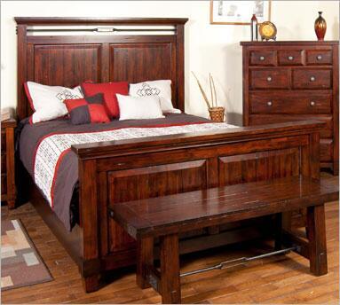 Sunny Designs 2340RMEK Vineyard Series  California King Size Panel Bed