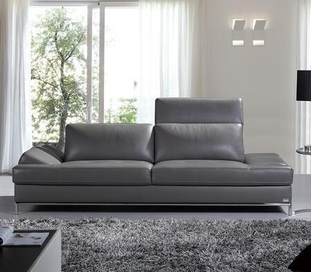 VIG Furniture VGKNK8484ECOGRY Divani Casa Izzy Series Stationary Sofa