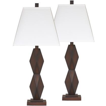 Natane Dark Brown Poly Table Lamp