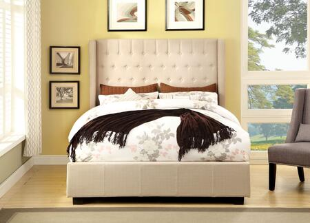 Furniture of America CM7055IVQBED Mira II Series  Queen Size Bed