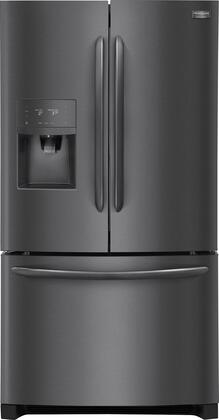"""Frigidaire FGHD2368T 36"""" Counter Depth French Door Refrigerator with 21.9 cu. ft. Capacity, LED Lighting, External Water and Ice Dispenser, in"""