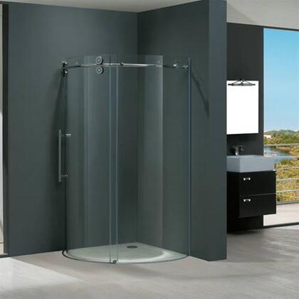 "Vigo VG6031XXCL36L 36"" x 36"" Frameless Round 5/16"" Shower Enclosure Left Sided Door:"