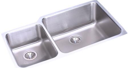 Elkay ELUH3520 Lustertone Double Bowl Undermount Sink
