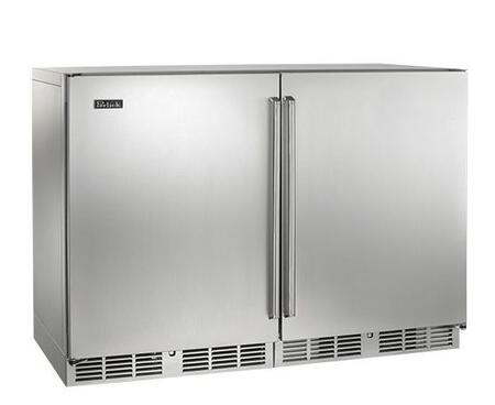 Perlick HP48RRS1L1R Signature Series Counter Depth Side by Side Refrigerator with 12.0 cu. ft. Capacity