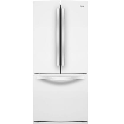 """Whirlpool WRF560SMY 30"""" French Door Refrigerator with 19.7 Cu. Ft. Capacity, SpillSaver Glass Shelves, FreshFlow Produce Preserver, Condiment Caddy, and Factory Installed Automatic Icemaker:"""