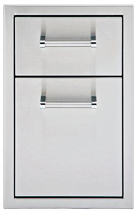 """Delta Heat DHSD13X-B 13"""" Storage Drawers with 304 Stainless Steel Construction, One-piece 18 Gauge Frame, and Depth Drawers, in Stainless Steel"""