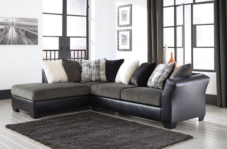 Signature Design by Ashley Armant 2020 Sectional Sofa with Corner Chaise, Arm Sofa and Eight Pillows Included in