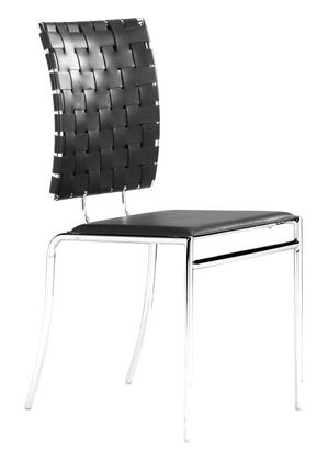 Zuo 333012 Criss Cross Series Modern Faux Leather Metal Frame Dining Room Chair