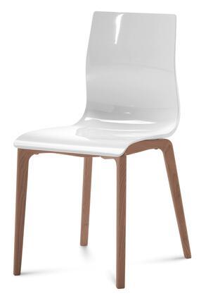 Domitalia GELSLSFNCASBI Gel Series Transitional Wood Frame Dining Room Chair