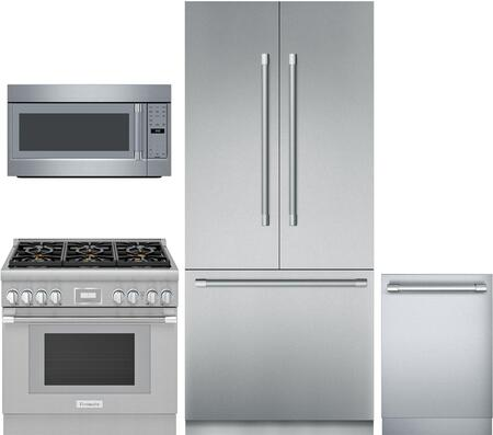 Thermador 1073537 4 Piece Panel Ready Wi Fi Connected Kitchen Liances Package