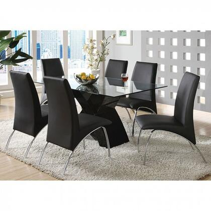Furniture Of America Cm8370bkdt6sc Wailoa Dining Room Sets Appliances Connection