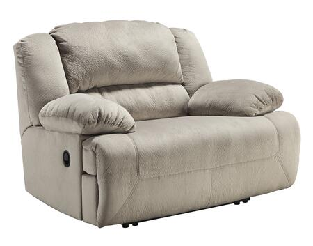 Signature Design by Ashley Toletta 56703REC Zero Wall Wide Seat Recliner with Thick Bustle Back Design, Pillow Padded Arms and in Metal Drop-In Unitized Seat Box in Granite