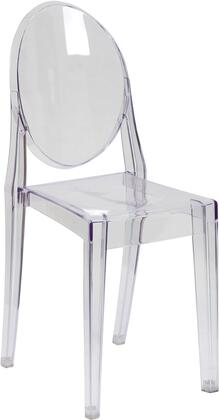 Flash Furniture FH1XXAPCCLRGG Ghost Chair Transparent Crystal
