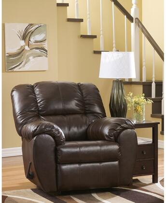 "Flash Furniture Signature Design by Ashley Dylan 41"" Rocker Recliner with Bustle Back Cushions, Metal Frame, Rocker Feature, Lever Recliner and Durablend Upholstery in"