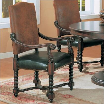 Coaster 180032 Riverside Series Tradtional Microfiber Wood Frame Dining Room Chair