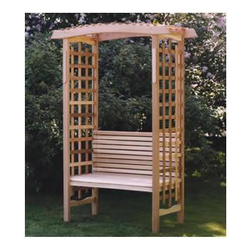 All Things Cedar AB44U Casual Cedar Frame Armless Patio Benches