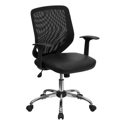 "Flash Furniture LFW95LEABKGG 24.5"" Contemporary Office Chair"