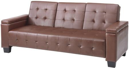 Glory Furniture G740S  Convertible Faux Leather Sofa