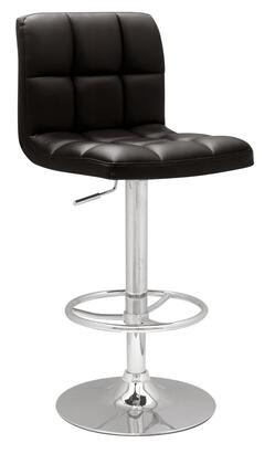 Chintaly 0394-AS Adjustable Height Swivel Stool With Stitched Seat and Back Pneumatic Gas Lift in