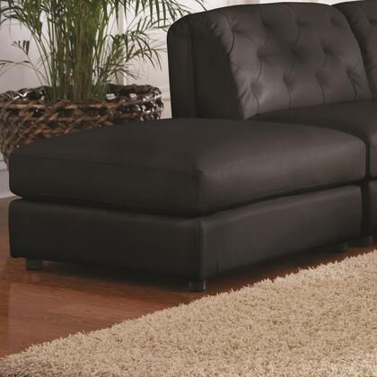 Coaster 551033 Quinn Series Transitional Bonded Leather Wood Frame Ottoman
