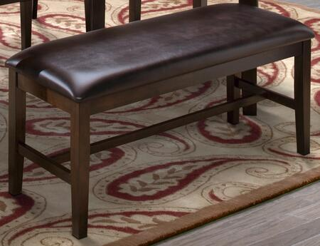 "New Classic Home Furnishings 40-150-25 Latitudes 44"" Bench with Tapered Legs, Hardwood Solids and Veneers, in"