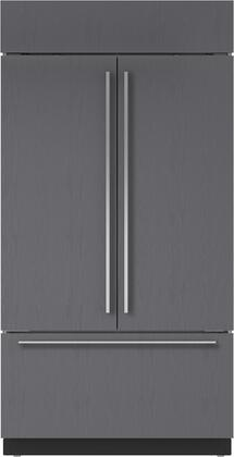 "Sub-Zero BI-42UFDID/X 42"" Built-In French Door Refrigerator with 24.7 cu. ft. Total Capacity, Interior Water Dispenser, Automatic Ice Maker, and Air Purification System, in"