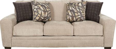 """Jackson Furniture Prescott Collection 4487-03- 94"""" Sofa with Mailbox Arm Treatment, Reversible Box Seat Cushions and Padded Chenille Fabric Upholstery in"""