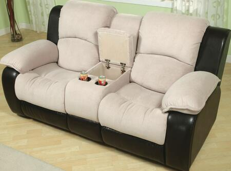 Yuan Tai PA9990L Parker Series Microfiber Loveseat with Wood Frame Loveseat