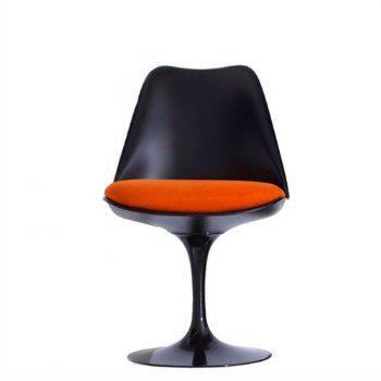Fine Mod Imports FMI1139BLACKORANGE Flower Series Dining Material: Sueded Molded Fiberglass Frame Accent Chair