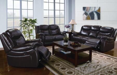 Acme Furniture 50101 Moreno Series Leather Loveseat in Brown |Appliances Connection