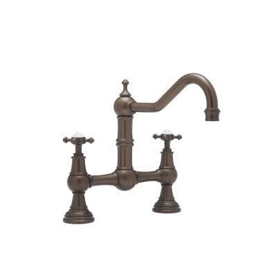 Rohl U.4750X--2 Perrin and Rowe Collection Bridge Kitchen Mixer With Cross Handles, California AB 1953 and Vermont S152 Compliant: