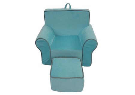 Fun Furnishings 75XXX Fun Foam Chair And Ottoman Micro