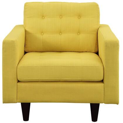 Modway EEI1013SUN Empress Series Armchair Fabric Wood Frame Accent Chair