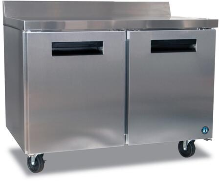 "Hoshizaki CRMF48xx 48"" Commercial Worktop Freezer with 13.66 cu. ft. Capacity, Stainless Steel Exterior, 2 Epoxy Coated Shelves, Stepped Door Design, and Field Reversible Doors, in Stainless Steel"