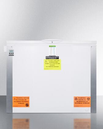 "Summit VLT1 x"" Laboratory Chest Freezer with x cu. ft. Capacity, Digital Thermostat, Alarm with Temperature Display, Corner Protectors and Manual Defrost in White"