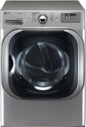 """LG DLGX8101 29"""" Front Load Mega Capacity Gas Dryer with 9.0 cu. ft. Capacity, 14 Drying Programs, TrueSteam Technology, LoDecibel Quiet Operation, SmartThinq Technology, and Sensor Dry:"""