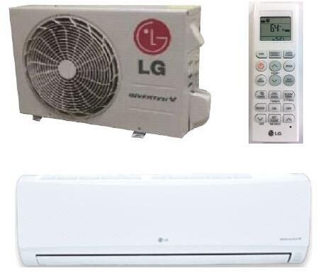 LG LSxx0HEV1 Single Zone Mega Inverter Mini Split System with Cooling Capacity, Heating Capacity, 2-Way Auto Swing, Sleep Mode, and Gold Fin Anticorrosion