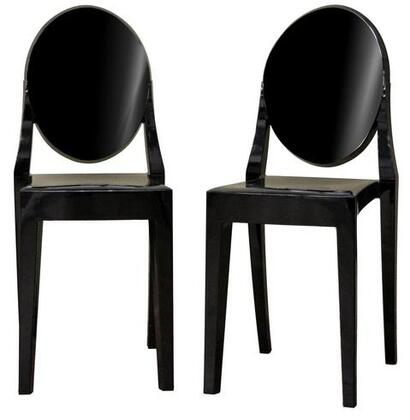 Wholesale Interiors PC448BLACK  Metal Frame Accent Chair