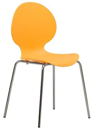 ITALMODERN L3288ORG Bunny-PP Series Modern Not Upholstered Metal and Plastic Frame Dining Room Chair