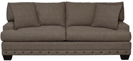 """Bassett Furniture Carmine Collection 3917-6QFC/FC156-X 87"""" Queen Sleeper with Stylish Plush, Fiber Crown Patch, Fiber Wrap and Wood Legs with Walnut Finish"""