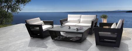 VIG Furniture H07BLK Modern Patio Sets
