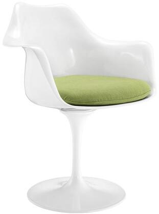 EdgeMod EM152GRN Daisy Series Modern Fabric Plastic Frame Dining Room Chair