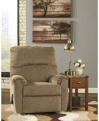 "Flash Furniture Signature Design by Ashley Pranit 35"" Recliner with Wall Hugger Design, Lever Recliner, Plush Pillow Back and Chenille Upholstery in"