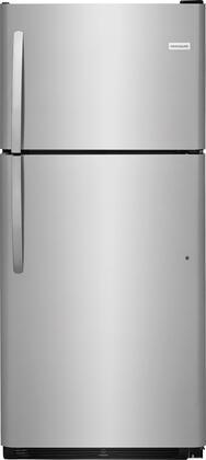"Frigidaire FFHT2021Tx 30"" Energy Star Top Freezer Refrigerator with 20.4 cu. ft. Capacity, Bright Lighting, Half Width Deli Drawer, 2 Full Width SpaceWise Refrigerator Shelves, and 1 Full Width Wire Freezer Shelf, in"