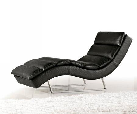 VIG Furniture VGMB1185BLK Divani Casa Series Modern  Chaise Lounge