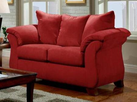 Chelsea Home Furniture 196702SRB Armstrong Series  Stationary with Wood Frame Loveseat