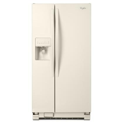 "Whirlpool WRS322FDAT 33""  Bisque Side by Side Refrigerator with 21.2 cu. ft. Capacity"