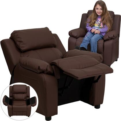 Flash Furniture BT7985KIDBRNLEAGG Childrens Leather Wood Frame  Recliners