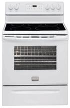 Frigidaire FGEF3031KW Gallery Series Electric Freestanding Range with Smoothtop Cooktop, 5.4 cu. ft. Primary Oven Capacity, Storage in White
